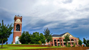 clocktower and Tucker Center