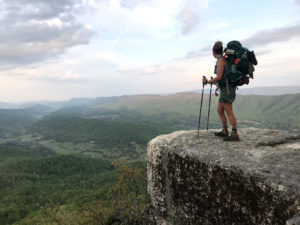 Eiryn Reynolds hiking the Appalachian Trail