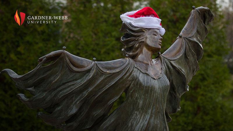 Zoom Background - Aurora statue