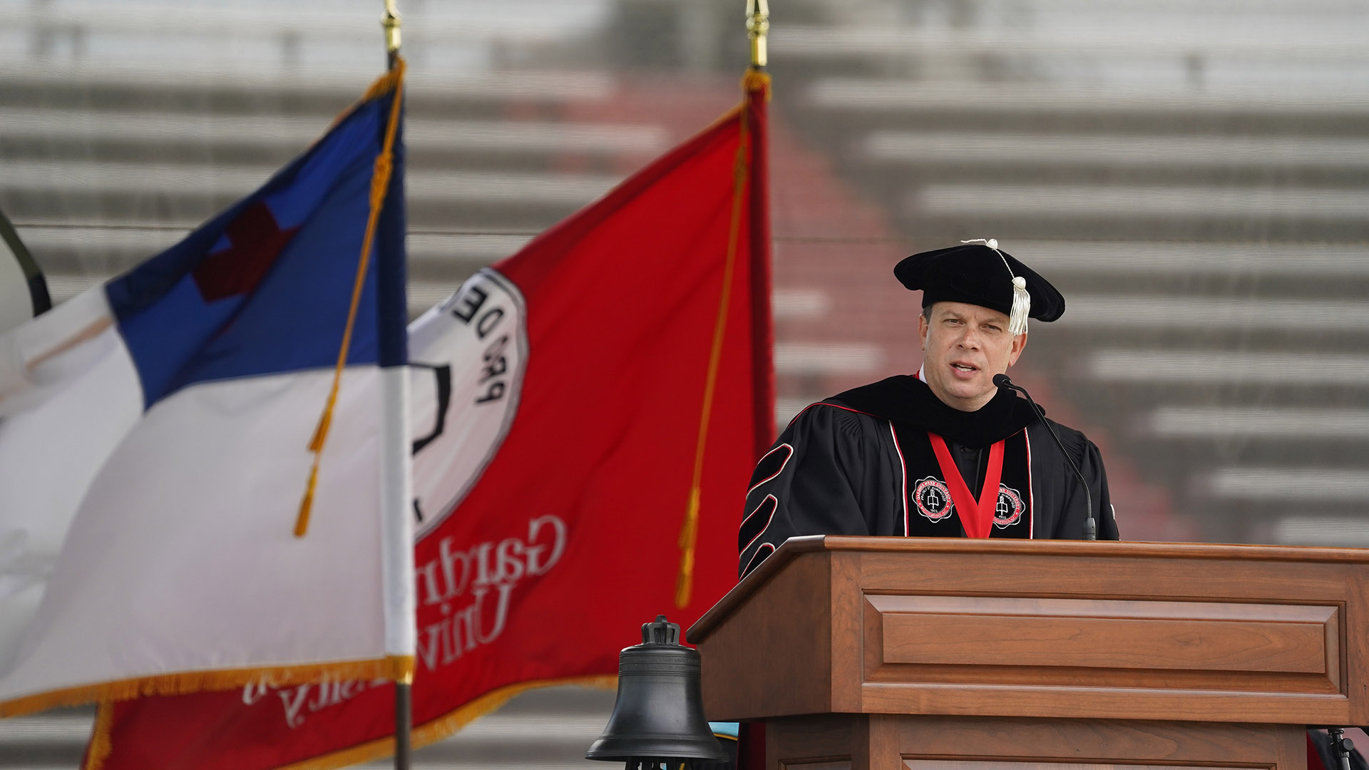 President Downs at Spring 2021 Commencement