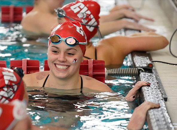 female student in Bost pool