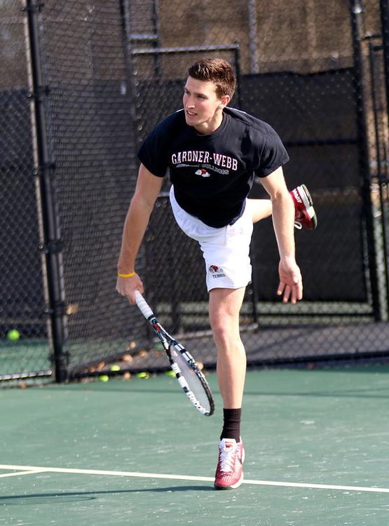 GWU male tennis player